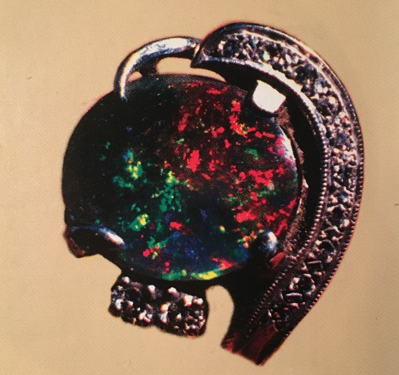 Royal Peacock Black Opal Gem