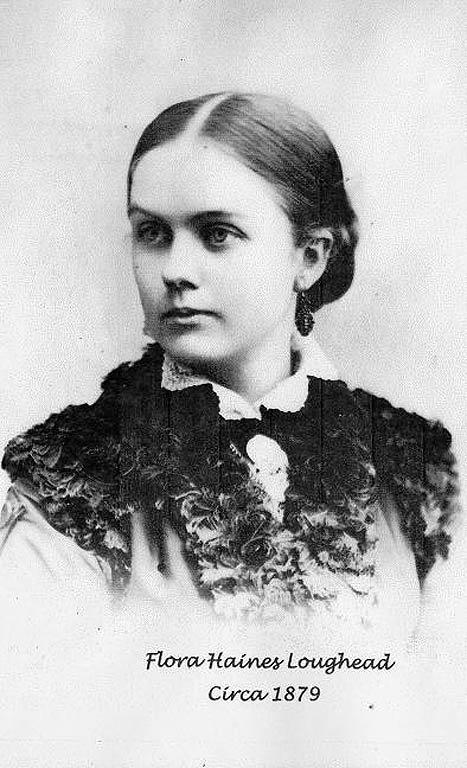 Flora Haines Loughead ca.1879