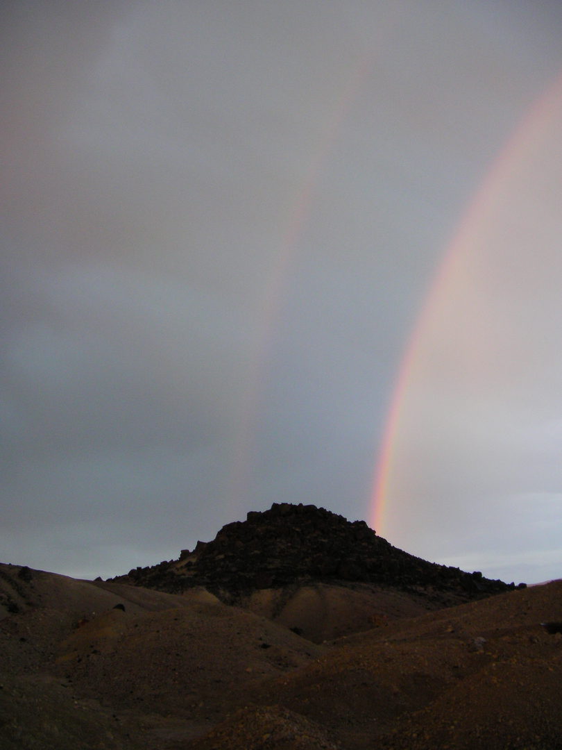 Double Rainbow at Virgin Valley NV