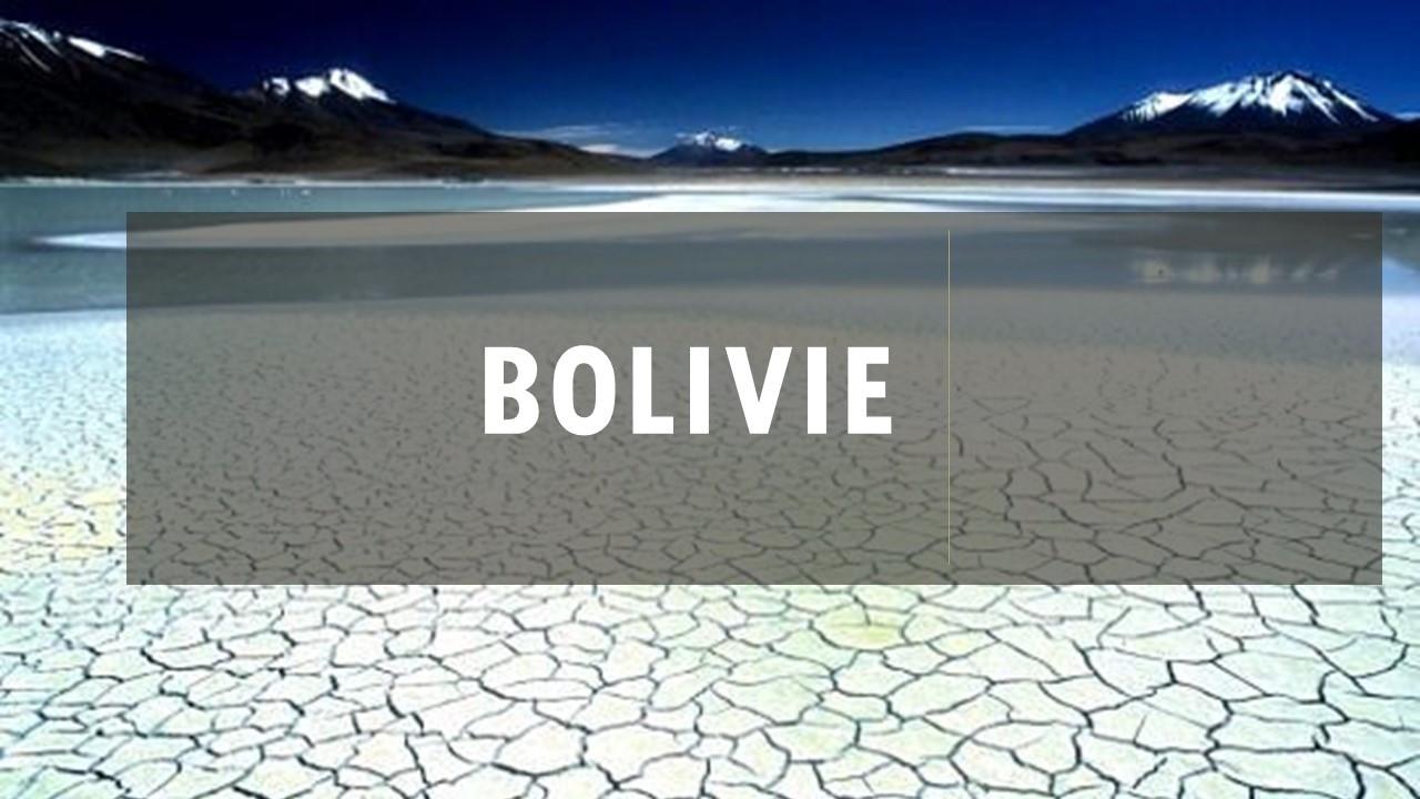 Projet Bolivie