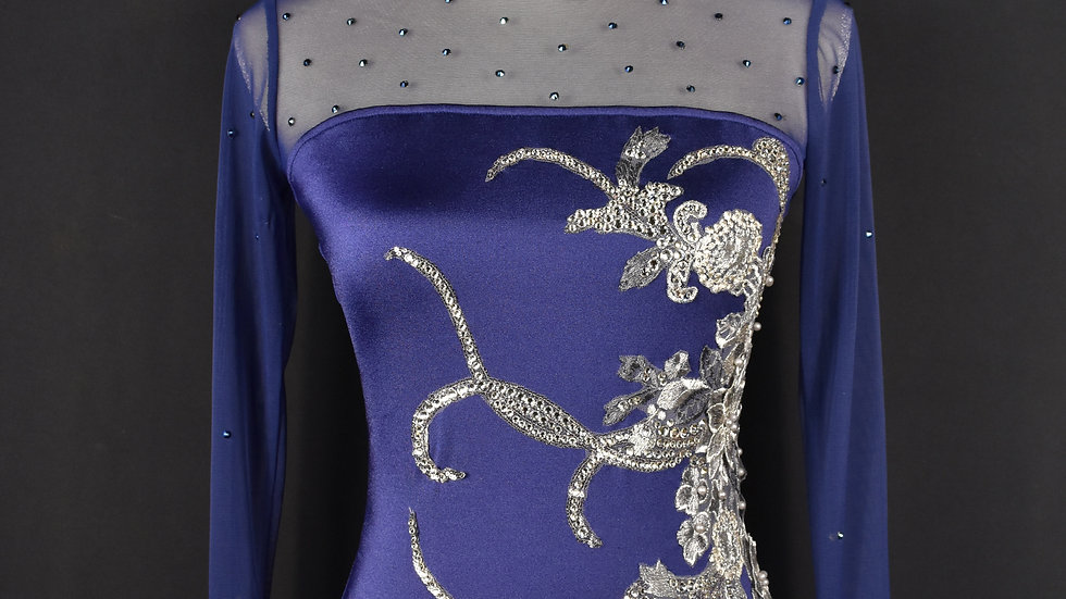 Elegant Evening - AM - Repurposed Contemporary Base / New Appliques and Crystals