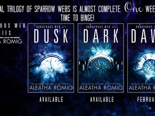 ONE week until the FINAL book of the FINAL Sparrow Web trilogy... One week until we see the DAWN!