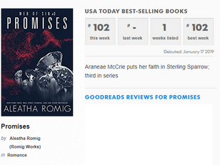 Thank you for making PROMISES a USA Today bestseller
