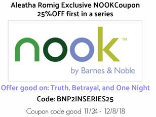 PROMO code for NOOK reader