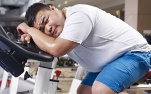 defeated exercise man