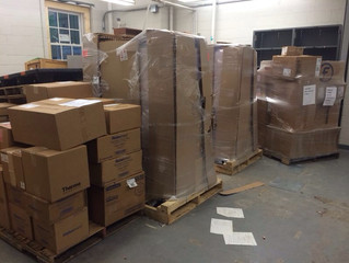 Pallets of New Lab Equipment