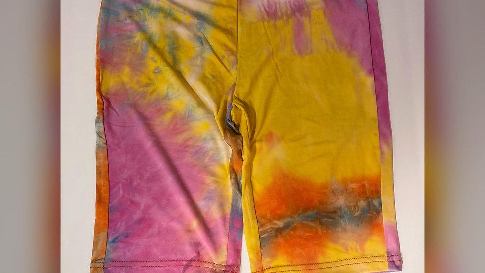 Tye dye biker shorts