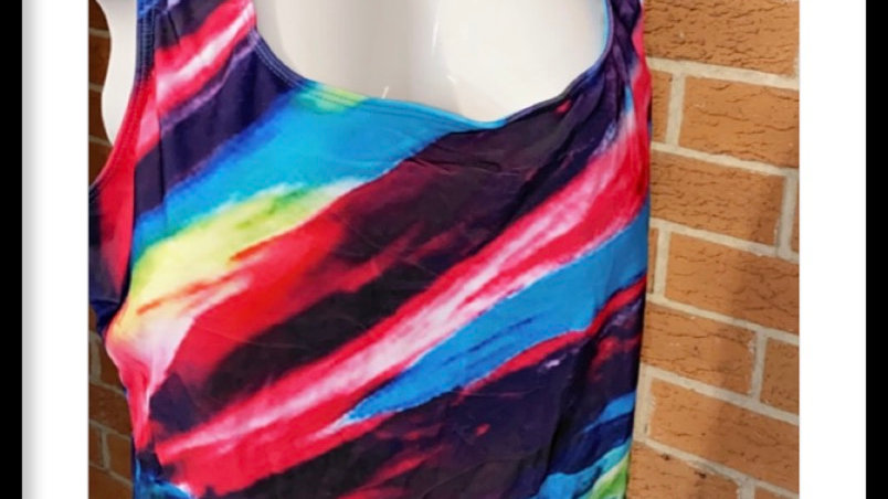 Multi color bathing suit