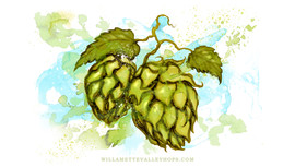 Hand Painted Hops