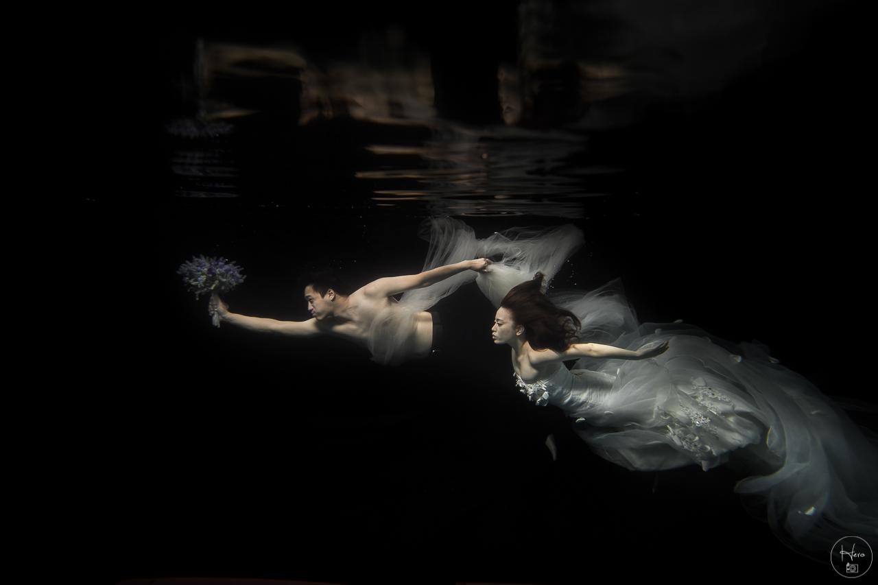 水中婚紗 (9)