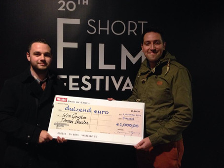 """Short film """" De Smet"""" wins HUMO- award at the International Short Filmfestival Leuven 2014!"""