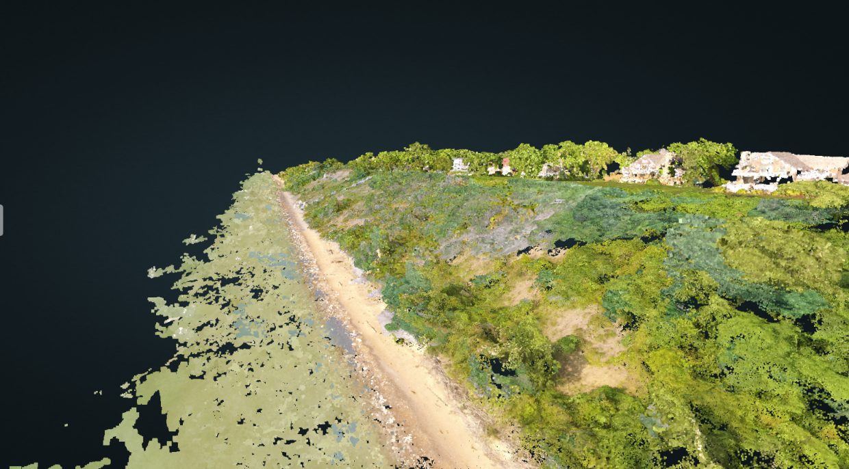 3D Point Cloud Model of Bluff