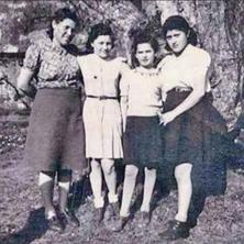 Judith (2nd left) at boarding school