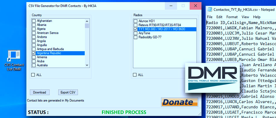 Imagen para la Raspberry PI modelo 3 para el uso del DV4mini