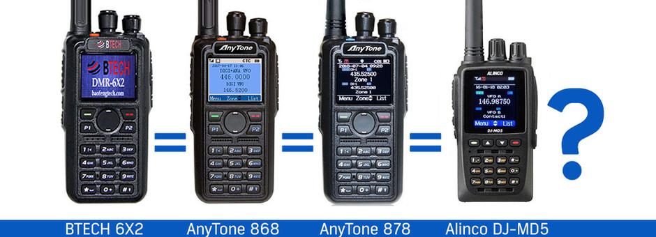 ¿ Similitudes entre el Alinco DJ-MD5 y el AnyTone 878 y sus parientes ?