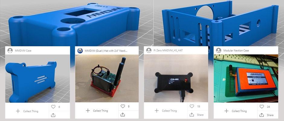 Modelos para impresiones en 3D para dispositivos MMDVM, DVPi, Nextion's etc. en MakerBot Thingiverse