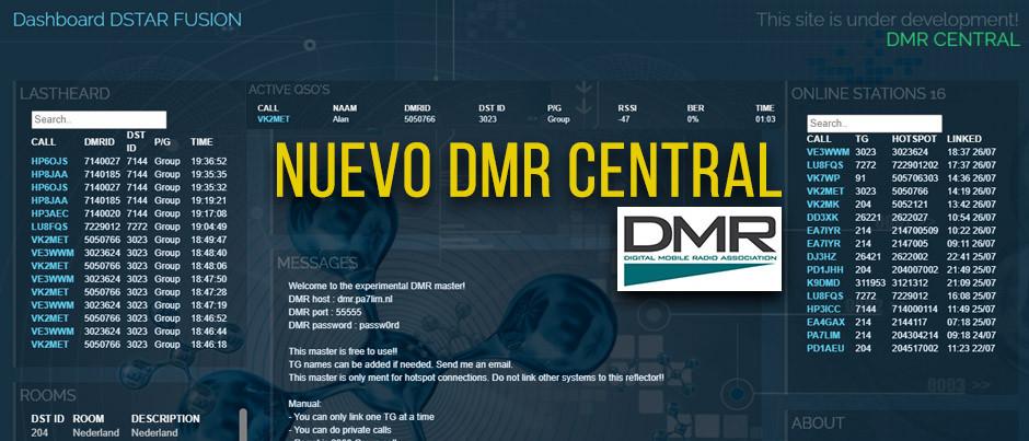 ¡NUEVO!  DMR Central,  ¿Que es?