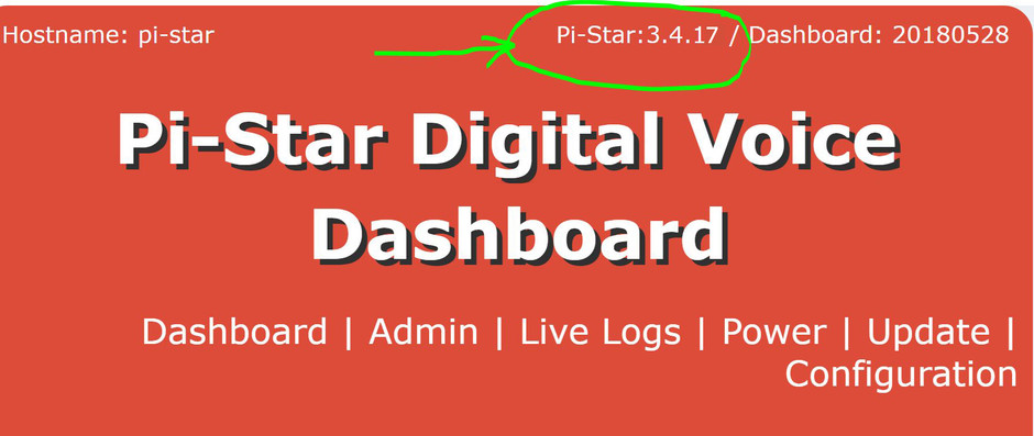 Como actualizar el software Pi-Star a la ultima version 3.4.17