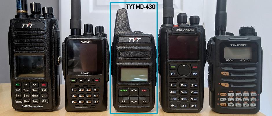 El TYT MD-430, un handy economico, compacto de UHF 400/470 Mhz, 2 Watts, DMR-Analógico.