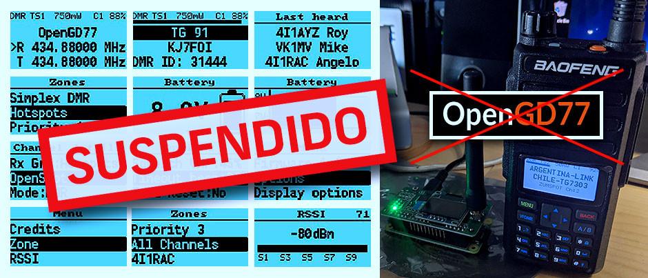 Se suspende el proyecto OpenGD77, se cancelan las descargas del Firmware y archivos del mismo.