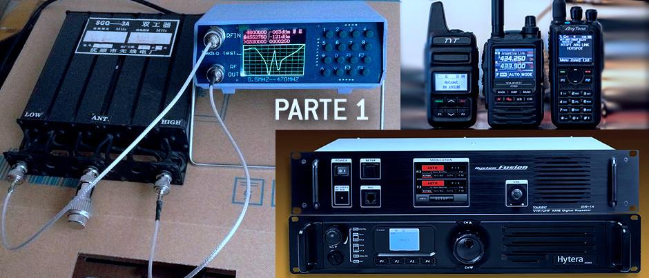 Económico Analizador de Espectro de UHF VHF, para el ajuste de Duplexores y Cavidades, por CX4AE