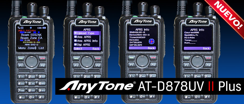 NUEVO Anytone - AT-D878UV II Plus, sus diferencias con el modelo anterior el AT-D878UV Plus