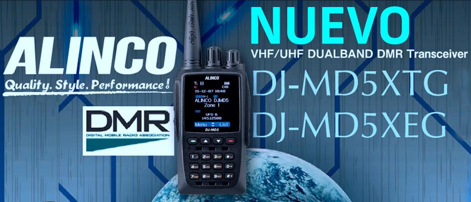 NUEVO - Portátil Alinco DJ-MD5XEG, ahora con nuevas funciones.
