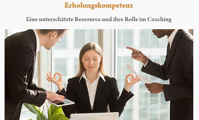 Erholungskompetenz/Erholungsfähigkeit: Artikel im Coaching-Magazin