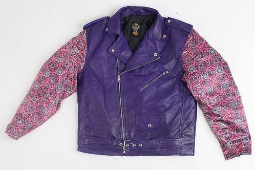 LIBRE BRAND Biker Jacket Purple