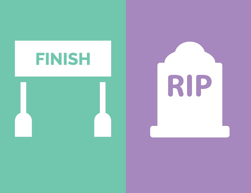 the finish line is better to use than a deadline