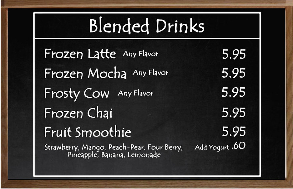 Blended-drinks | South Hadley | Thirsty Mind Coffee and Wine Bar