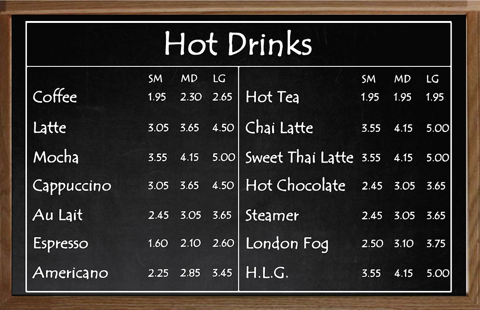 Hot-drinks | South Hadley | Thirsty Mind Coffee and Wine Bar