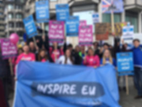 Inspire EU team with the banner