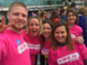 The Inspire EU team in the Pink tees