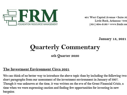 FRM Fourth Quarter 2020 Commentary