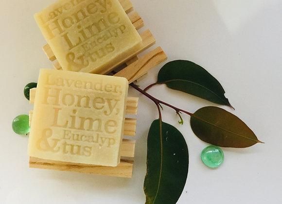 Corrynne's Natural Soap - Lavender, Honey, Lime & Eucalyptus