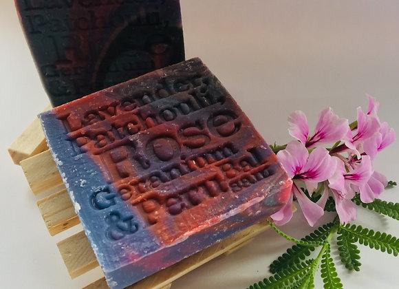 Corrynne's Natural Soap - Lavender, Patchouli, Rose Geranium & Peru Balsam
