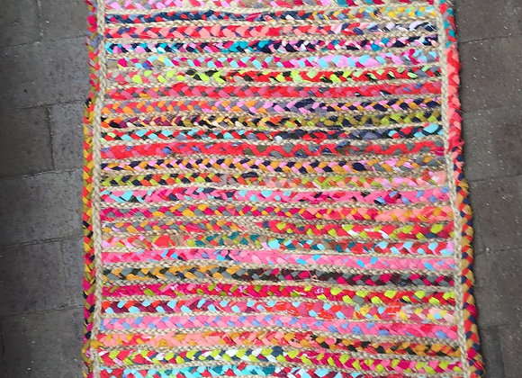 Colourful Jute and Cotton Floor Mat