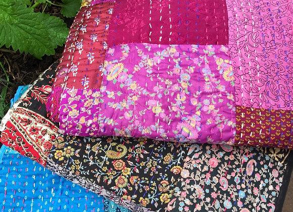 Silk Kantha Quilt