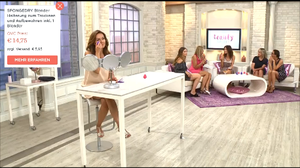 Demonstration how to use Foundation Blender on QVC;s Beauty Night
