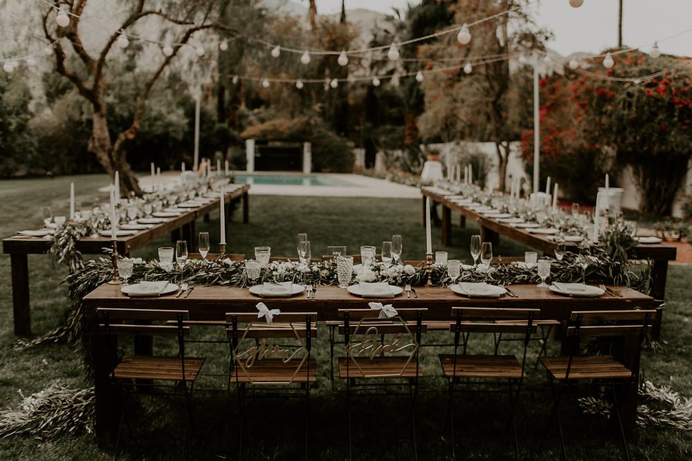 Palm Springs back yard wedding at La Chureya Estate.