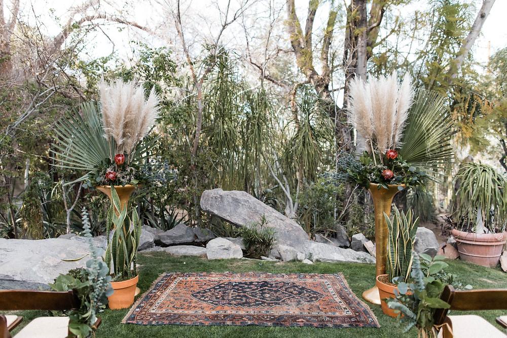 Palm Springs wedding at Moorten botanical garden & Saguaro Hotel