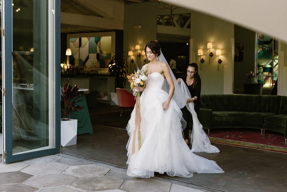 Palm Springs wedding planner. Planning: Peachy Keen Weddings Photo: Geoff Rivers