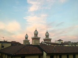 La vista sulla sinagoga