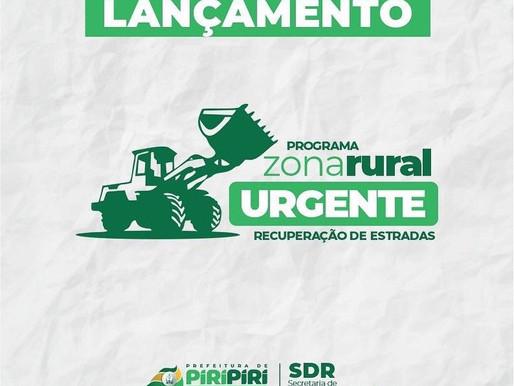 Programa Zona Rural urgente   Recuperação de estradas