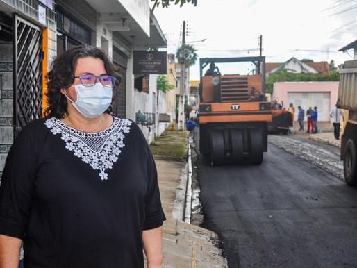 Prefeitura de Piripiri inicia asfaltamento no centro da cidade