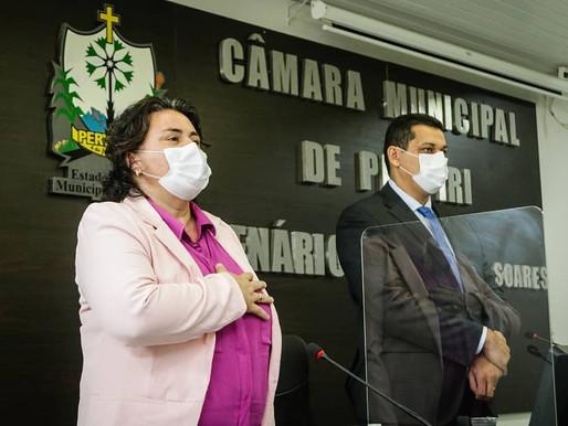 Jôve Oliveira, Prefeita de Piripiri, faz balanço de 45 dias de governo em mensagem anual