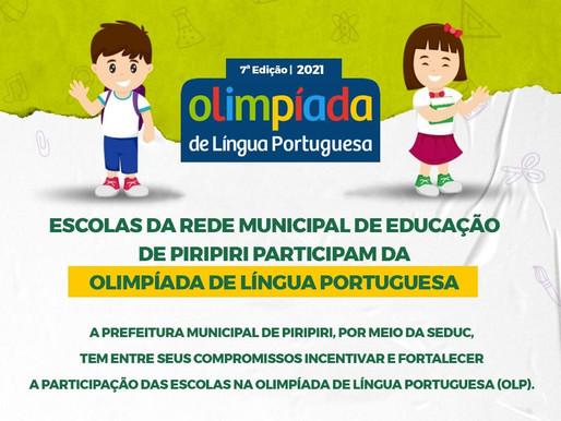 Seduc  participará da 7ª 0limpíada de Língua Portuguesa A partir de 2021,  a Prefeitura Municipal