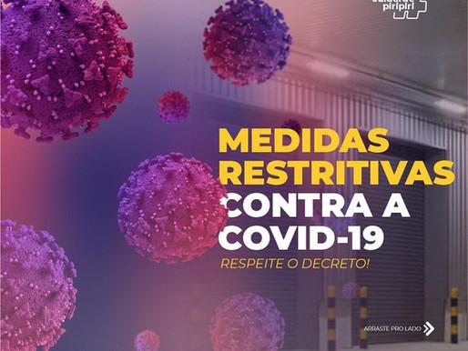 Atenção, acompanhe as novas medidas de restrições contra a COVID-19.