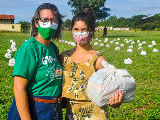 ONG Paulista tem apoio da Prefeitura de Piripiri para distribuição de cestas básicas